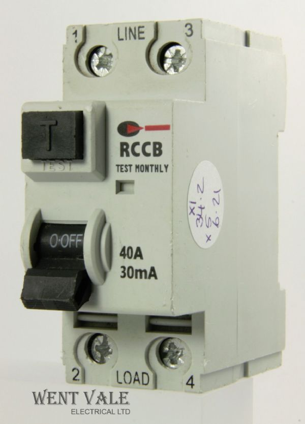 CGD 40/30/2 - 40a 30mA Double Pole RCCB Used